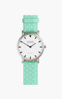 Poole Watch With Pistachio Polka Strap