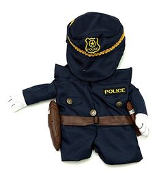 Fake Arms Policeman Dog Costume (Small Dog Small) by Midlee