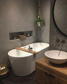 Best Small Bathroom Sink Design Ideas - Best Home Remodel Bathroom Spa, Bathroom Toilets, Bathroom Wall Decor, Bathroom Interior, Small Bathroom, Design Bathroom, Bad Inspiration, Bathroom Inspiration, Farmhouse Laundry Room