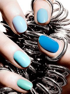 Blue ombre  #nails #