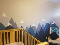 Mountain Mural - Diy. Woodland theme. Boys nursery decor