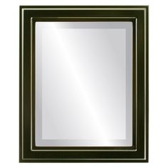 Wright Framed Rectangle Mirror in Gloss Black - Medium high)) Contemporary Frames, Contemporary Style, Fake Plants Decor, Black Rectangle, Beveled Mirror, Home Decor Trends, Shabby Chic Furniture, Home Decor Outlet, Decorating Tips