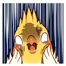 Coca Bird by ErA sticker Cute Cartoon Drawings, Bird Drawings, Cartoon Pics, Animal Drawings, Funny Birds, Cute Birds, Parrot Drawing, Funny Parrots, Cute Animal Memes