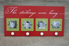 "Wish I had this when my 3 guys were little ... ""No Mantel"" Idea for Christmas Stocking Holder"