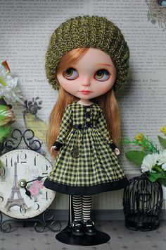 """Outfit for Blythe """"Retro-time"""" 