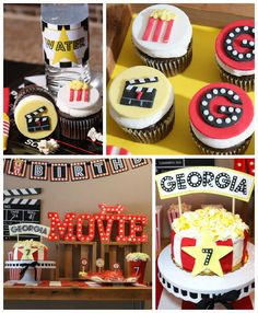 98 best movie theatre birthday party images bow tie cupcakes cup