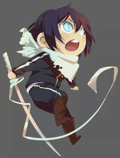 Noragami ~~ He looks hungry. :: Chibi Yato and Yukine in blade form