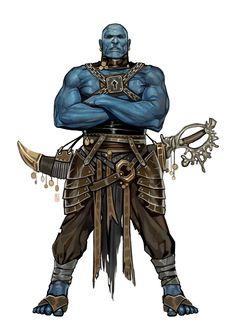 Male Marid Genie - Pathfinder PFRPG DND D&D d20 fantasy