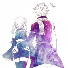 Aww this is cute its lucy and natsu together. But it looks like he is grabbing…