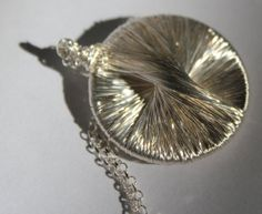 Sterling and Pure Silver Wire Round Pendant by anatsambol on Etsy, $120.00