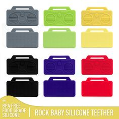 rock baby teether toys
