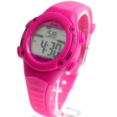 DW136H Magenta Watchcase Alarm BackLight Water Resist Ladies Women Digital Watch
