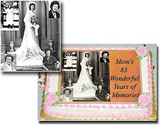 Use an old photo to make a Mother's Day card and use the same photo on a cake!  The bakery will scan it and put it on the cake's frosting.