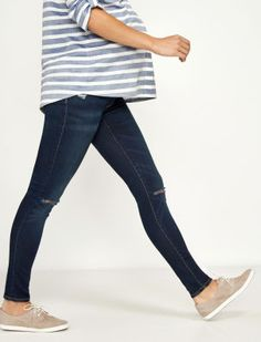 ff07b240b26d2 A Pea in the Pod Luxe Essentials Denim Secret Fit Belly Addison Destructed  Skinny Maternity Jean
