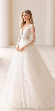 Stunning Long Sleeve Wedding Dresses For Brides ★ See more: https://weddingdressesguide.com/long-sleeve-wedding-dresses/ #bridalgown #weddingdress