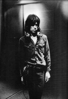 The 30 Most Stylish photos of Mick Jagger - purple leaves