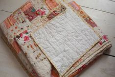 Lovely patchwork quilt; post includes (very) basic instructions — SouleMama
