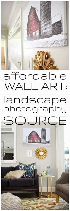 Affordable wall art - gorgeous landscape photography source