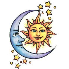sun moon stars tattoo - Google Search