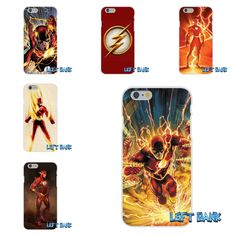The Flash DC Comics Soft Silicone TPU Transparent Phone Cover Case For iPhone 4 4S 5 5S 5C SE 6 6S 7 Plus
