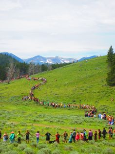 Rainbow Family Gathering, Montana.  Photo By Mandy Smith
