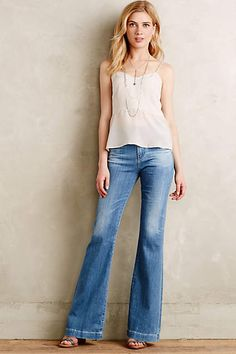 AG Janis Flare Jeans - anthropologie.com