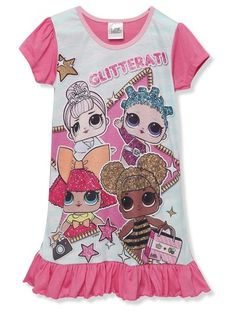 Lol Surprise nightdress Girls Sleepwear, Little Diva, Lol Dolls, Queen Bees, 9 And 10, Kids Girls, Ss, Fabric, Mens Tops