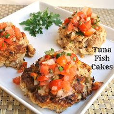Mom, What's For Dinner?: Tuna Cakes with Fresh Tomato Salsa