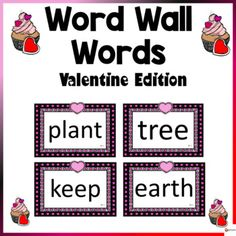 Word Wall Words Valentine ThemeThese word wall word cards Valentine theme in this 200-page packet will add a fun and bright focus in your classroom during the fall season. The download contains 300-400 words from Fry's high-frequency list.Check out our other Word Wall Words. Click below.Word Walls...
