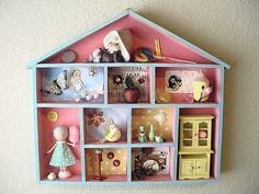 https://flic.kr/p/6Fd5GU | Abby-Sue's House Shadow Box | Inspired by Holiday Jenny and featuring the Lollipop WorkShop, this is now in Abby-Sue's bedroom walk in closet/playroom.  knockknockingblog.blogspot.com/