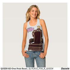 QUEEN All-Over Print Racerback Tank Top
