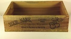 Personalized Cherry Produce Crate by GWCcakepans on Etsy, $25.00