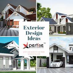 exterior design ideas guruvayur Exterior Design, Engineering, Design Ideas, Mansions, House Styles, Home Decor, Decoration Home, Room Decor, Home Exterior Design