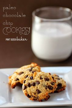 Paleo Chocolate Chip Cookies - So good, you won't miss your sugar filled cookies. Pint Sized Baker