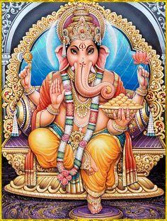 Lakshmi Ganapathi Puja - Invokes Co-Action of Wealth and Prosperity and Remove Bad Effects Ganesh Images, Lord Krishna Images, Shiva Art, Hindu Art, Durga Maa Paintings, Shiva Lord Wallpapers, Shree Ganesh, Lord Ganesha, Jai Ganesh