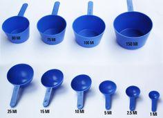 Cucharas medidoras  Se utillizan en cocina para as preparaciones que contienen pequeñas porciones de algun condimento