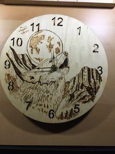 Done by hand. Wood Crafts, Fun Crafts, Coffee Artwork, Neck Surgery, Wolf Silhouette, Wood Burning Art, Pyrography, Natural Wood, Burns