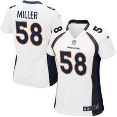 All Size Free Shipping Limited Women's Nike Denver Broncos #58 Von Miller White NFL Jersey. Have your Limited Women's Nike Denver Broncos #58 Von Miller White NFL Jersey shipped in time for the next NFL game with our low price $4.99 3-day shipping. Go G-Men!  $79.99