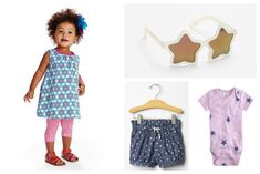 The cutest star clothes for 4th of July for baby girls and boys. (And they look cute all year long!)