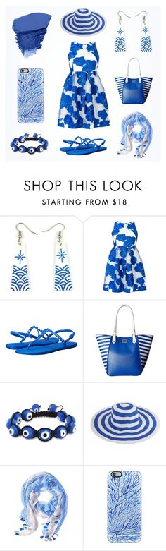 """""""Deep blue"""" summer women outfit set by @savousepate on Polyvore"""