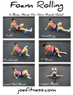 tight muscles...foam roller exercises