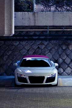 Nice white sport Audi with purple roof top ♥ App for your Audi…