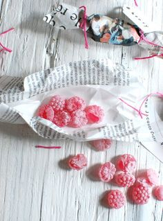 french strawberry candies