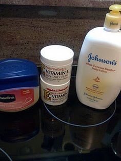 the BEST home made lotion! Made this last night and I can't believe how much my skin has improved in one day. Costs about $7-$8 to make. 8oz Vitiman E cream ($3 @ walmart) 8oz Vaseline($2 store brand @Walmart) 16oz Baby Lotion-any scent you prefer ($3-$4 store brand @ walmart) **Mix all ingredients together with an electric mixer and you're done! BEST LOTION EVER