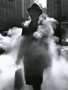 liquidnight: Arthur Tress Man in Steam New York, 1968 [via Le Clown Lyrique]