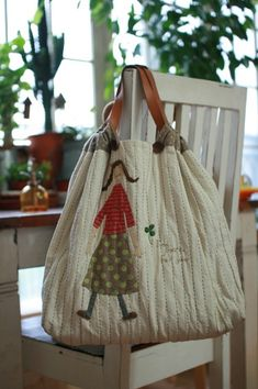 Rag Quilt Purse, Japanese Bag, Quilted Bag, Hand Quilting, Handmade Bags, Tote Handbags, Purses And Bags, Reusable Tote Bags, Canvas Bags