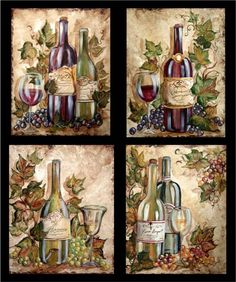 grapes and wine kitchen decor black stainless steel sink 128 best grape images ideas bottle on bottles tre sorelle art for home wall