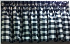 Classic Check Valance in Denim (as Shown), Black & Barn Red. Staring @ $24.99. To Order Call toll-free 877-722-1100