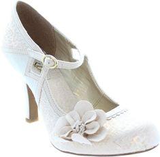 26d50ae8794fdb Ruby Shoo Cindy Damen Blume Mary Jane Vintage Braut Hochzeit Pumps NEU