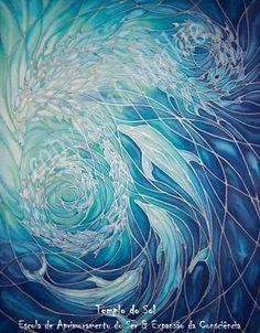 Sea Life Art, Sea Art, Ocean Life, Sea Dolphin, Eclipse Lunar, Water Swirl, Shoal Of Fish, Bathroom Art, Sign Printing